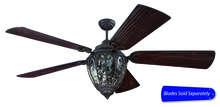 "Craftmade OV70AG - Olivier 70"" Ceiling Fan with Light in Aged Bronze Textured (Blades Sold Separately)"