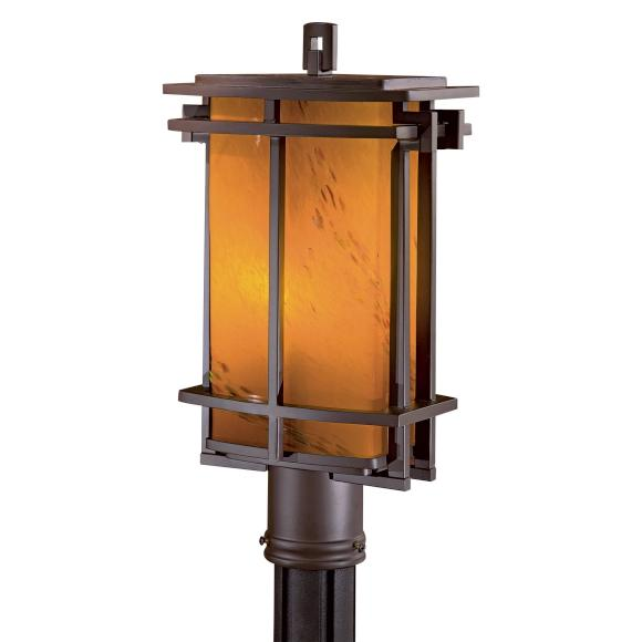 Lighting Showroom, Inc. in Anniston, Alabama, United States, Minka-Lavery RX22, One Light Bronze Post Light, Lugarno Square