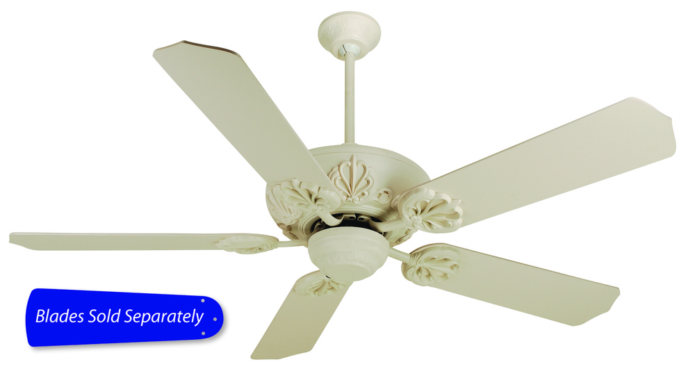 "Cordova 52"" Ceiling Fan in Antique White (Blades Sold Separately)"