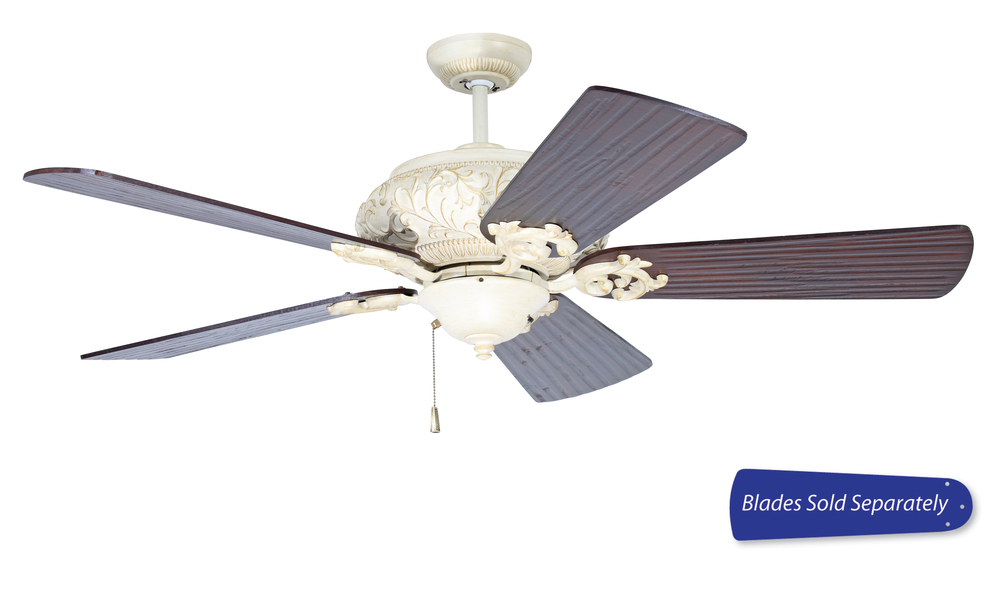"Ophelia 52"" Ceiling Fan in Antique White Distressed (Blades Sold Separately)"