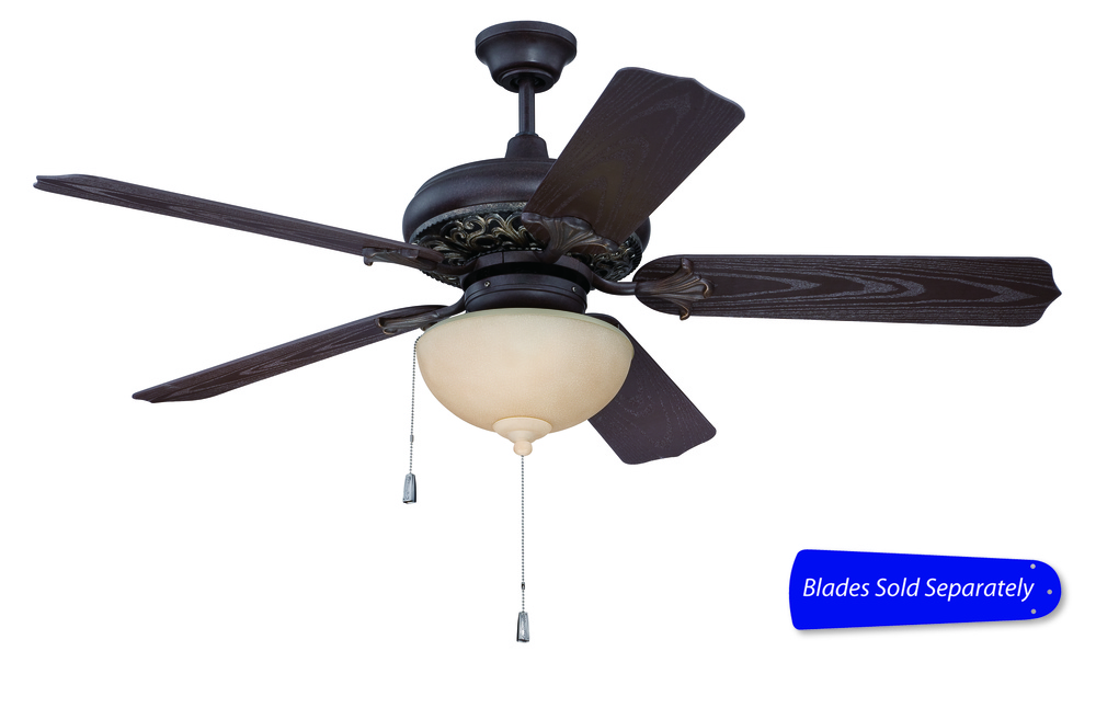 "Outdoor Mia 52"" Ceiling Fan in Aged Bronze/Vintage Madera (Blades Sold Separately)"