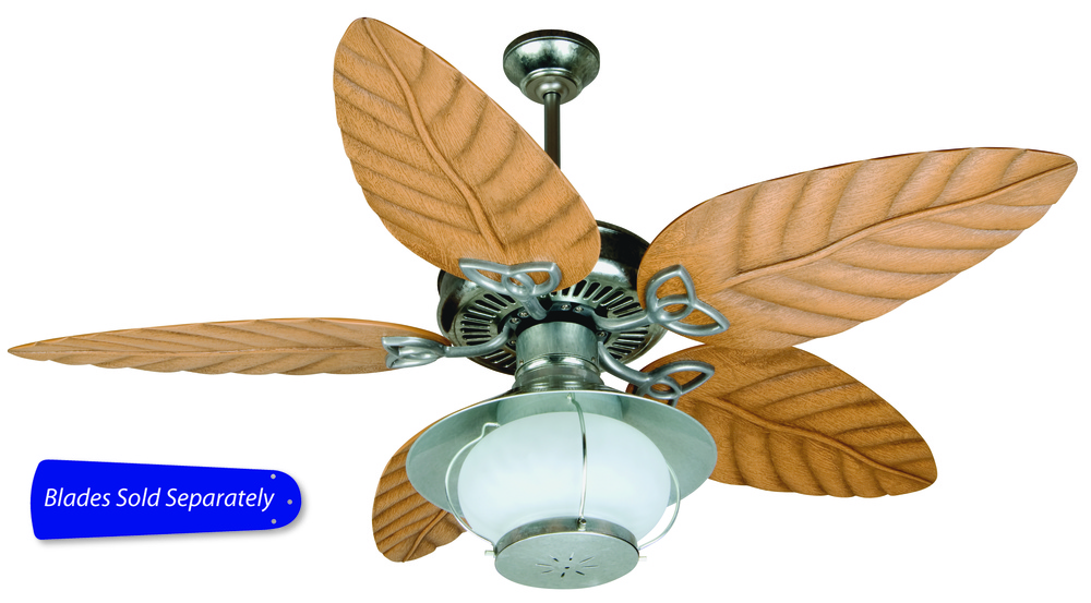 "Outdoor Patio 52"" Ceiling Fan in Galvanized Steel (Blades Sold Separately)"