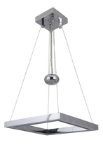 Craftmade 46131-CH-LED - Balance 1 Square LED Adjustable Pendant in Chrome