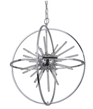 Craftmade 47390-CH-LED - Nebula Starburst LED with Rings Pendant in Chrome
