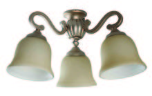 Craftmade LK50CFL-AO - 3 Light Universal Fan Light Kit in Athenian Obol with Antique Scavo Glass