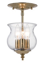 Crystorama 5715-PB - Crystorama Ascott 3 Light Polished Brass Semi-Flush