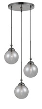 "CAL Lighting FX-2577-3P - 15.3"" Height Three Glass Pendant With Canopy In Gun Metal"