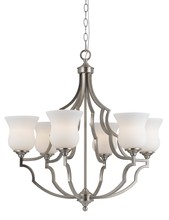 "CAL Lighting FX-3531/6 - 27"" Six Light Chandelier In Brushed Steel"