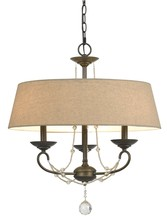 "CAL Lighting FX-3532/3 - 19.50"" Three Light Chandelier In Oil Rubbed Bronze"