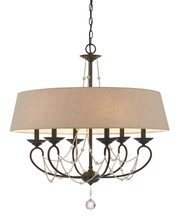 "CAL Lighting FX-3532/6 - 30"" Inch Six Light Chandelier In Oil Rubbed Bronze"