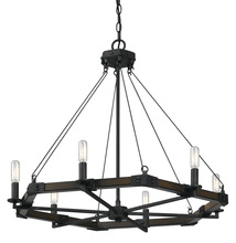 "CAL Lighting FX-3533/6 - 26"" Inch Six Light Chandelier In Blacksmith Iron"