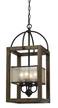 "CAL Lighting FX-3536/4 - 23.50"" Inch Four Light Mission Chandelier In Dark Bronze"