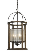 "CAL Lighting FX-3536/4L - 33"" Inch Four Light Lantern Chandelier In Dark Bronze"