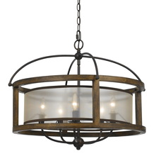 "CAL Lighting FX-3536/5 - 20.50"" Inch Five Light Round Chandelier In Dark Bronze"