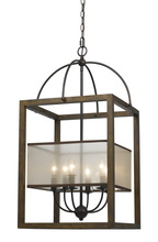 "CAL Lighting FX-3536/6L - 33"" Inch Six Light Rectangular Chandelier In Dark Bronze"