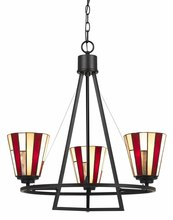 "CAL Lighting FX-3543/3 - 24.75"" Inch Tall Iron Chandelier In Dark Bronze Finish"