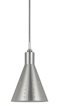 "CAL Lighting UP-1011/6-ORB - 9.8"" Tall Metal Pendant With Brushed Steel Finish"