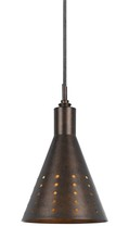 "CAL Lighting UP-1016/6-BS - 9.8"" Tall Metal Pendant In Rust"