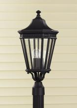 Feiss OL5407BK - 3- Light Post
