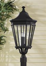 Feiss OL5408BK - 3- Light Post