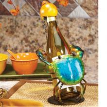 Deco Breeze DFA1871 - Wine Bottle Holder - Blue Crab