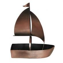 Deco Breeze DFA5463 - Wine Bottle Holder - Boat Ant. Copper