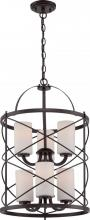 Nuvo 60-5339 - Ginger - 6 Light 2 Tier Chandlr