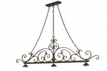 "Meyda Tiffany 68210 - 67.5""L Georgia Scroll 3 LT Island Pendant Hardware"