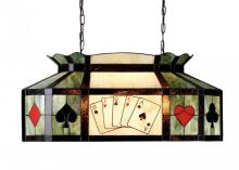 "Meyda Tiffany 81487 - 33""L Texas Hold'em Oblong Pendant"